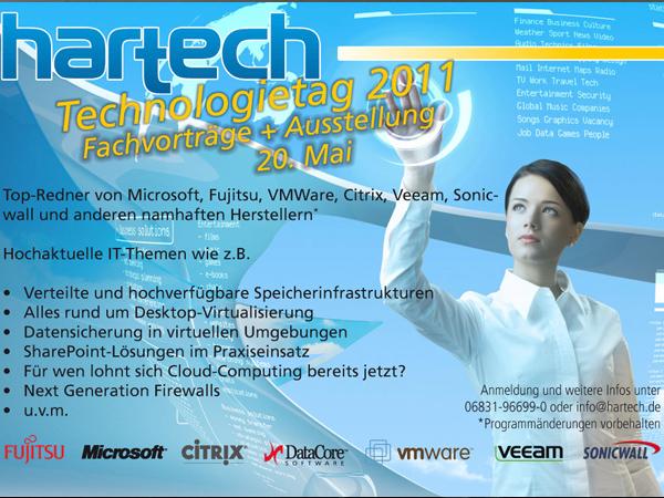 hartech, die IT-Experten! Ein voller Erfolg – der hartechTechnologietag 2011