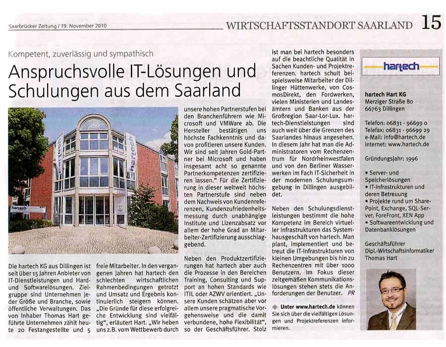 hartech, die IT-Experten! Wirtschaftsstandort Saarland