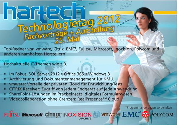 hartech, die IT-Experten! Die Agenda des hartechTechnologietag 2012