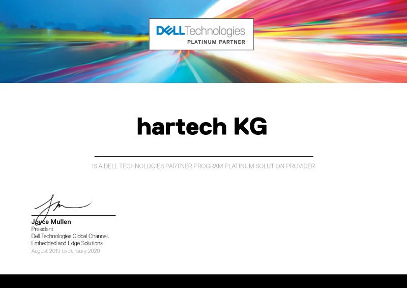 hartech, die IT-Experten! hartech ist DellEMC Partner Platinum.